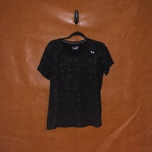 Under Armour-Black and Silver honeycomb